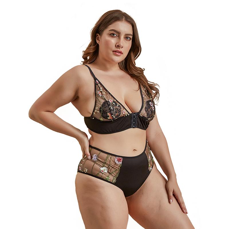 2020 セクシーな女性のプラスサイズの下着脂肪の女性セクシーな下着着用ランジェリー