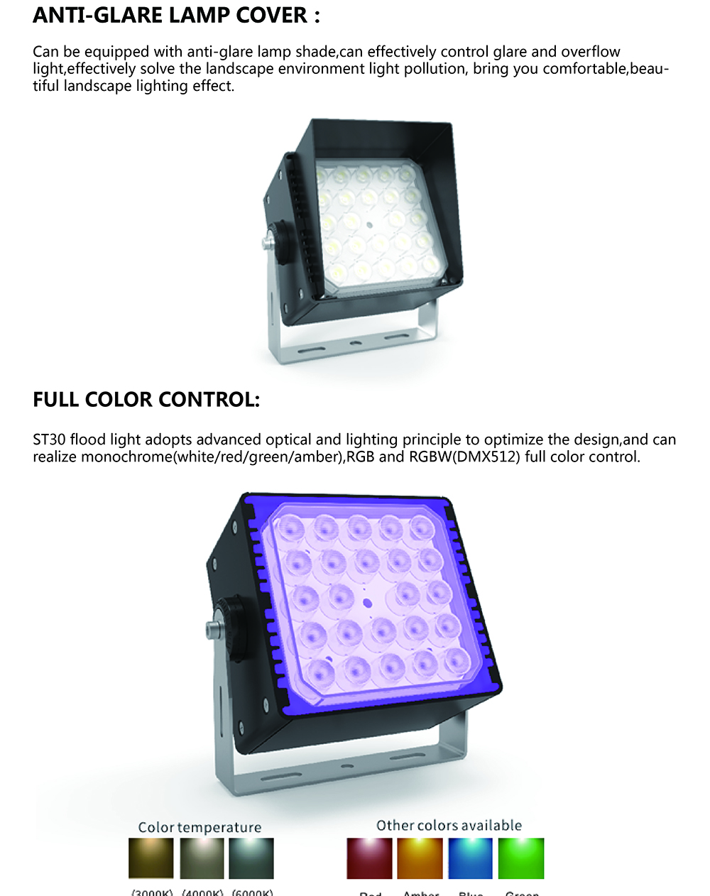 Professional factory colourful landscape light with timer smd outdoor flood led with Competitive Price