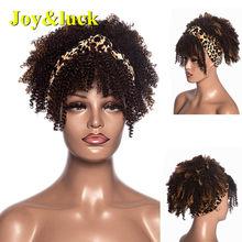 Joy & luck Box косички синтетические парики на голову парик Wrp тюрбан связанные головы обернуть парик для африканских женщин(Китай)