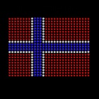 New in stock custom designs Norway national flag rhinestone heat iron transfer