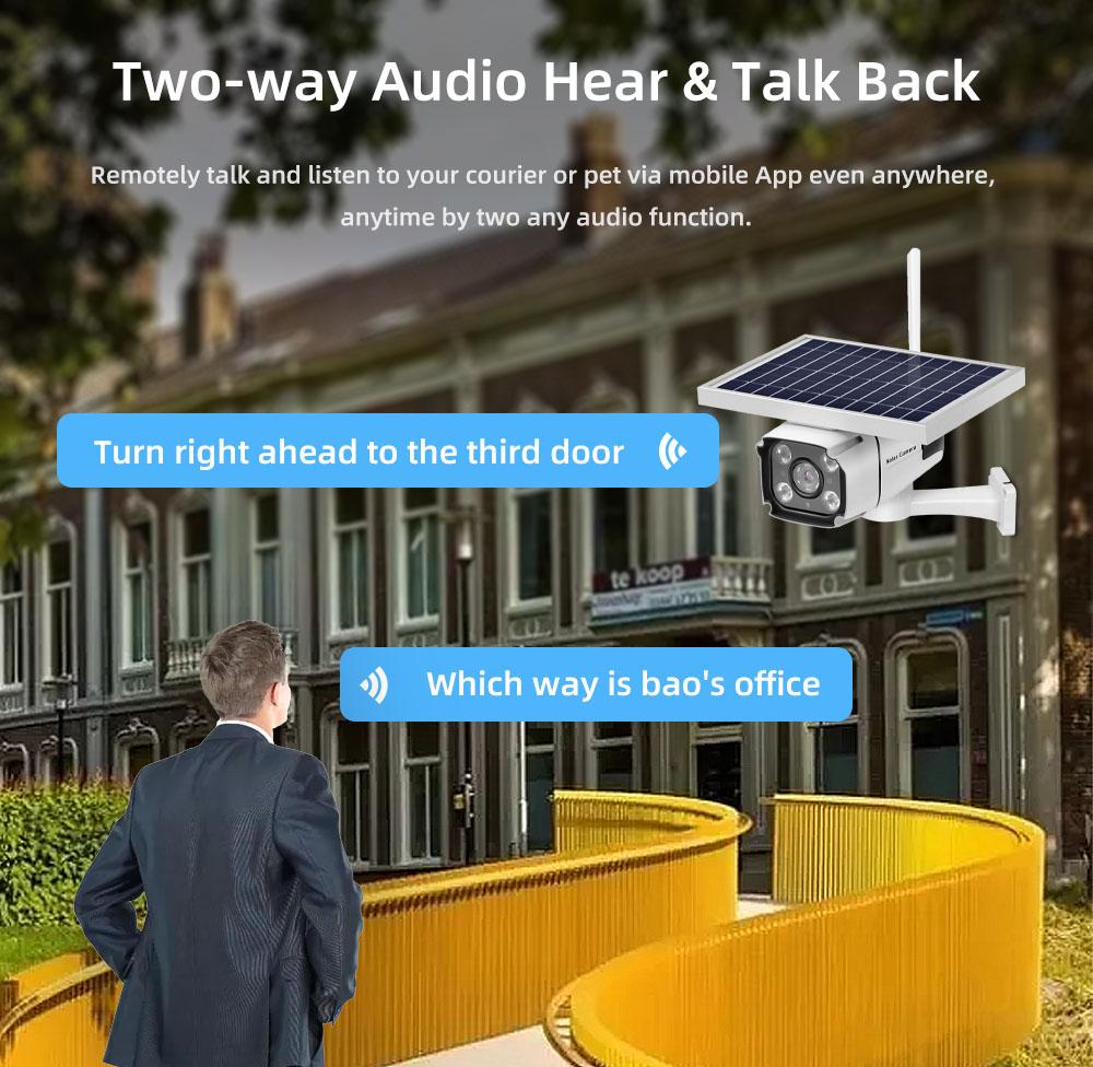 4G IP Camera Outdoor CCTV Camera 1080P 4G solar power camera