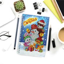 HUACAN алмазная вышивка распродажа живопись картины стразами блокнот Снеговик рождество 5д мозаика детская(Китай)