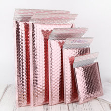 Custom Design Enveloppen Padded Bubble Mailing Zakken Rose Gold Glitter Metallic Folie Teal Bubble Mailers