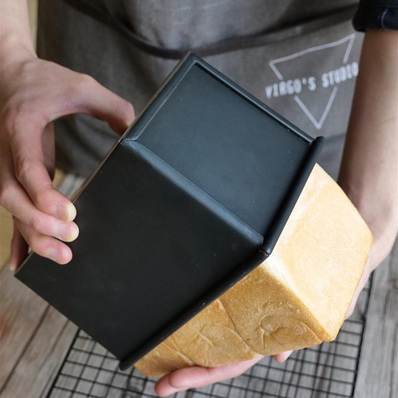 טוסט לחם עובש פולמן מחבתות עם כיסוי 450g לחם עובש מחבת