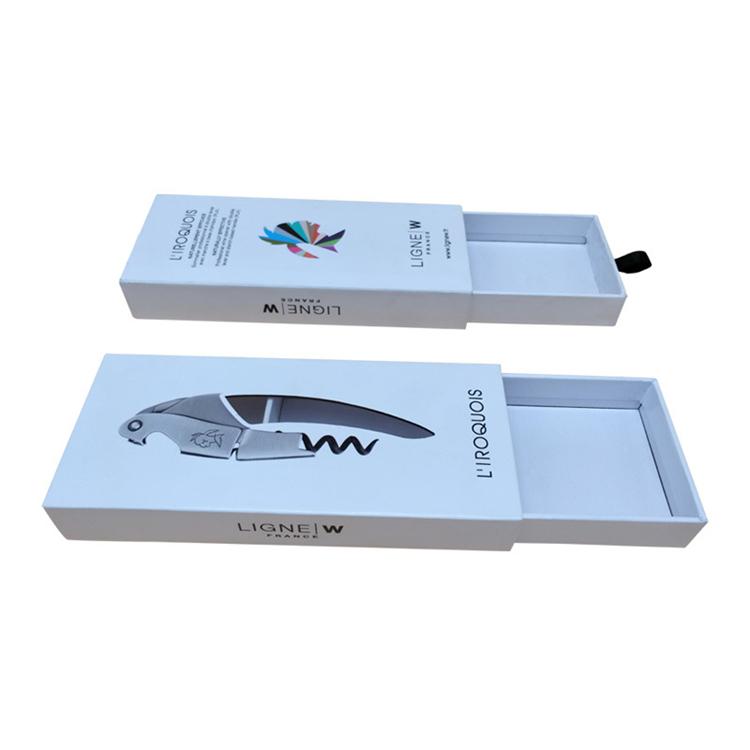 คุณภาพสูงที่กำหนดเองพิมพ์กระดาษแบบพกพาหรูหราบรรจุมีดของขวัญกล่องบรรจุภัณฑ์สำหรับช้อนส้อม