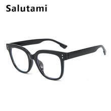 Анти-синий светильник, женские квадратные очки, оправа для мужчин, заклепки, черные, прозрачные очки для женщин, большие размеры, Ретро стиль...(Китай)