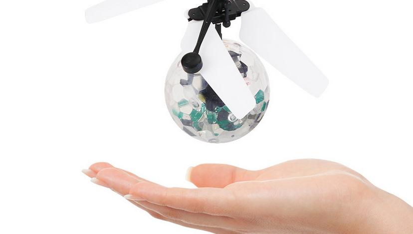 Hélicoptère radiocommande LED pour enfant, jouet, boule flottante Disco, capteur à Induction infrarouge, hélicoptère, cadeau, nouveau, 2021