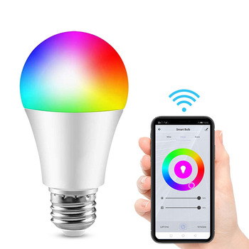 WIFIi Control 13W A65 Smart Bulb B22 E26 E27 Base LED Smart Light Dimmable Color Changing Lighting Work With Alexa