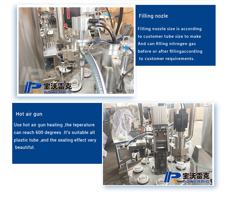 Toothpaste tube filling sealing machine for laminated tube