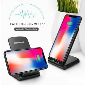 QI 10W fast  Wireless Charging Portable stand Cargador Inalambrico Rapida Para Telefono Celular
