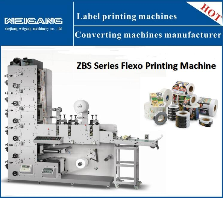 ZBS-320G Automatic label flexo printing machine with die cutting / lamination/vanish/slitting /cold stamping function price