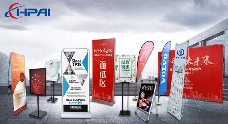 A3 A4 größe stand poster display stehen wasser injection kunststoff basis rotierenden poster stand