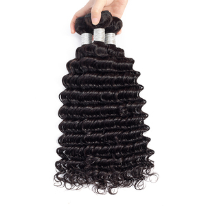 100 percent human loose curly hair extension bundles weft sale