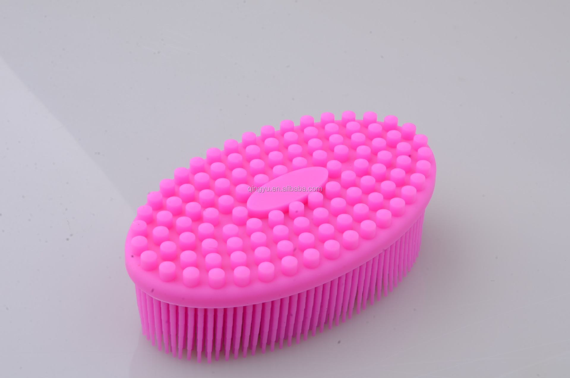 Super soft silicone shower brush for baby, bath brush, massage shower