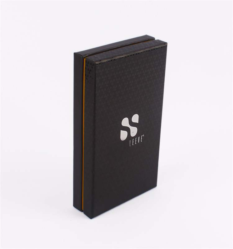 Custom Factory Spot UV Logo Luxury Gift Black Paper Men Wallet Belt Packaging Box