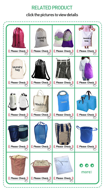 Wholesale Custom Breathable Nature White 100% Cotton Drawstring Laundry Bag