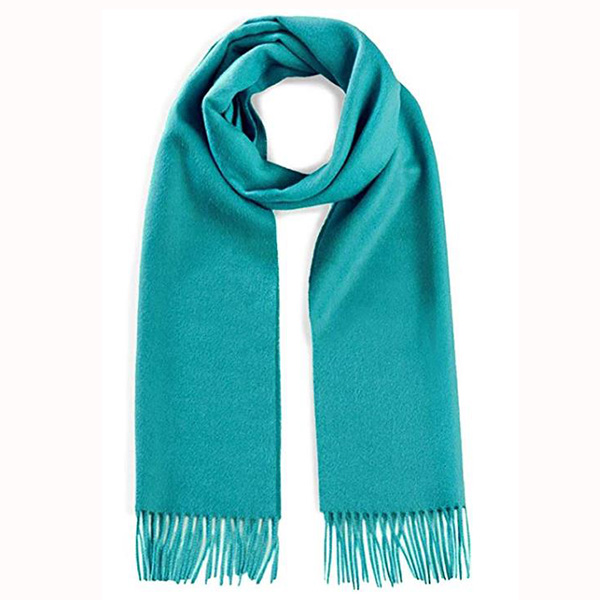 classic mens light brown pure cashmere scarf