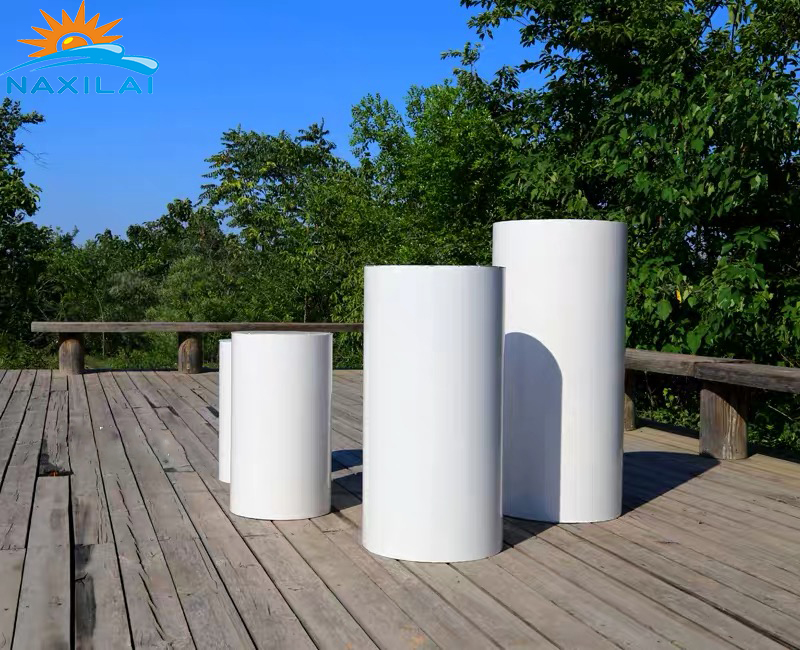 NAXILAI Custom Plinth Wedding Pedestal Columns White Acrylic Plinths <strong>Display</strong> Stand Round