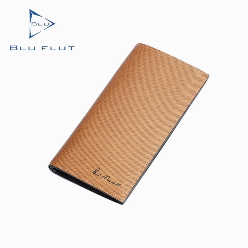 2019 Blu Flut Tùy Chỉnh Thực Da Wallet Đa Năng Dài Ví HOT-Bán Dài Ví Da Chính Hãng Unisex
