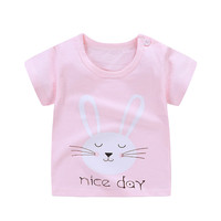 Children T Shirts Cartoon Print Kids Baby Boy Tops Short Sleeve T-Shirt Summer Tee Toddler Girl Shirts Girls Top