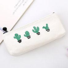 Милый кавайный холщовый чехол-карандаш, вместительные сумки-карандаши с милыми буквами, сумки-карандаши для девочек, подарок, школьные прин...(Китай)