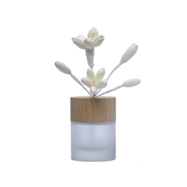 Natural Wood Lid 100ml Clear Round Glass Diffuser Bottle Ceramic Flower Aroma Reed Diffuser Buy Aroma Scented Reed Diffuser Decorative Reed Flower Diffuser Aroma Porcelain Flower Diffuser Product On Alibaba Com