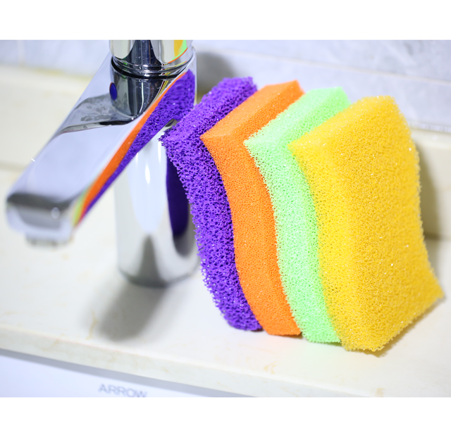 Kitchen Sponge and Scrubber sponge scourer for washing dishes kitchen Bowl Dish Pot Wash Scrub Cleaning Pads