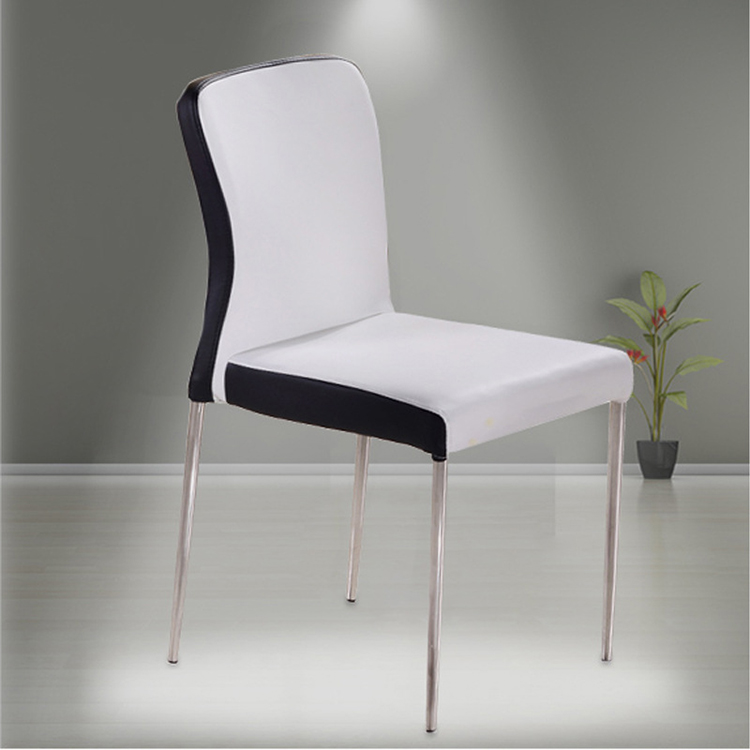 Dining room furniture leather dining chair with metal legs