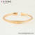 52466 Best seller fashion women jewelry open cuff bangle 18k gold color environmental copper bangle