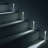 3W IP20 Aluminum Led Stair Step Light PIR Human Body Induction Motion Sensor Wall Sconce Indoor
