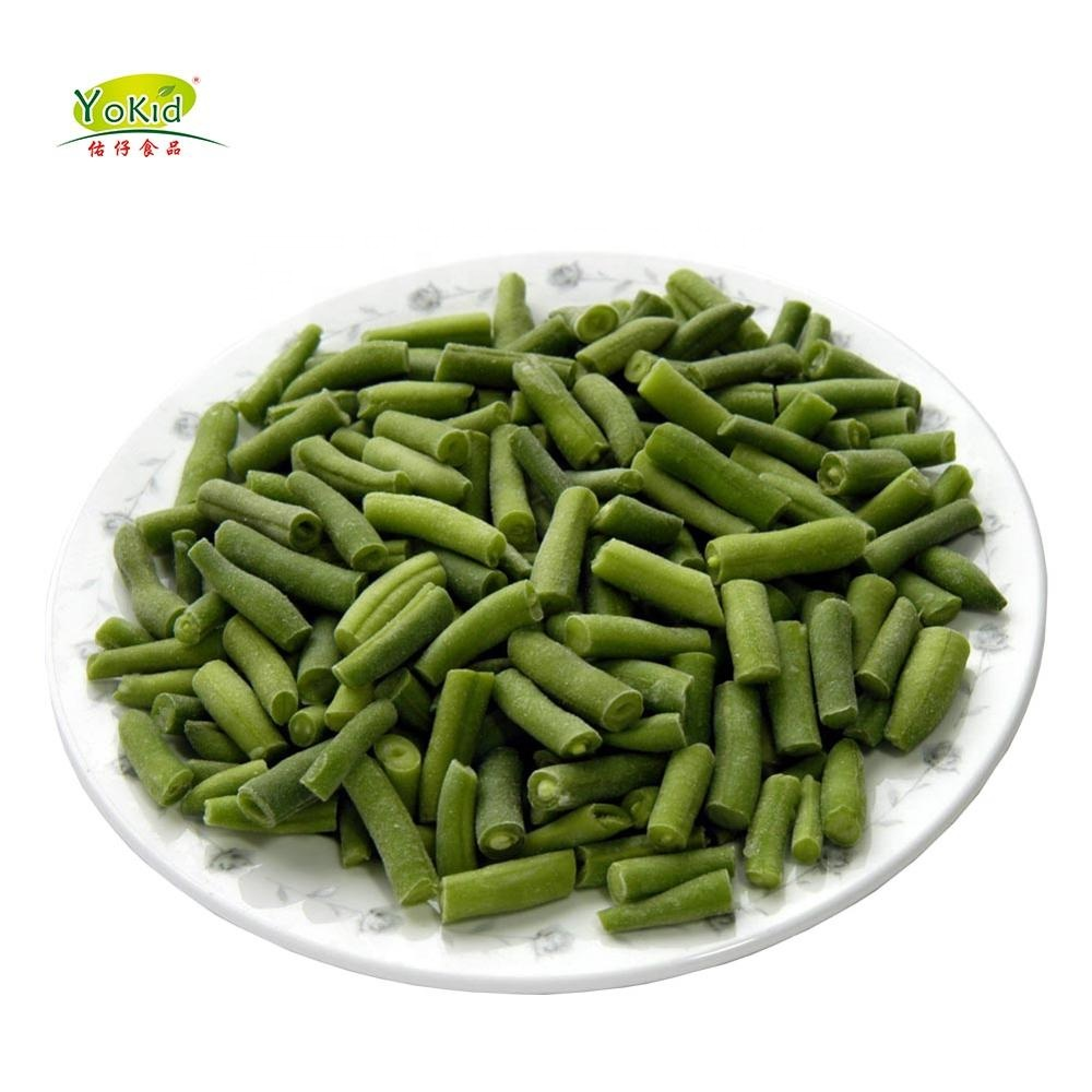Bulk IQF Frozen Fresh Chinese Cuts Sliced Green Beans Round Sale