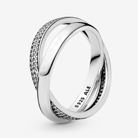 promise ring 925 Sterling silver Ms ring Wholesale jewelry factory