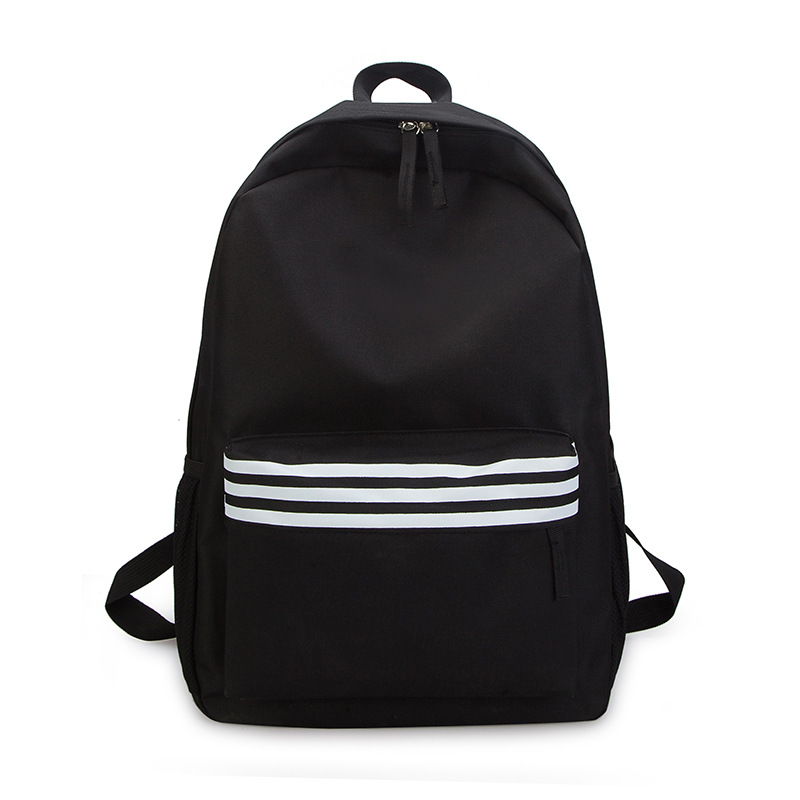 Schoolbag custom college wind canvas shoulder bag female 2019 new large capacity striped travel backpack