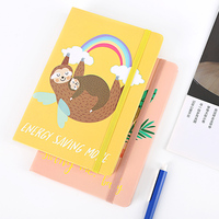 new design hardcover notebook with elastic band for gift office travel diary