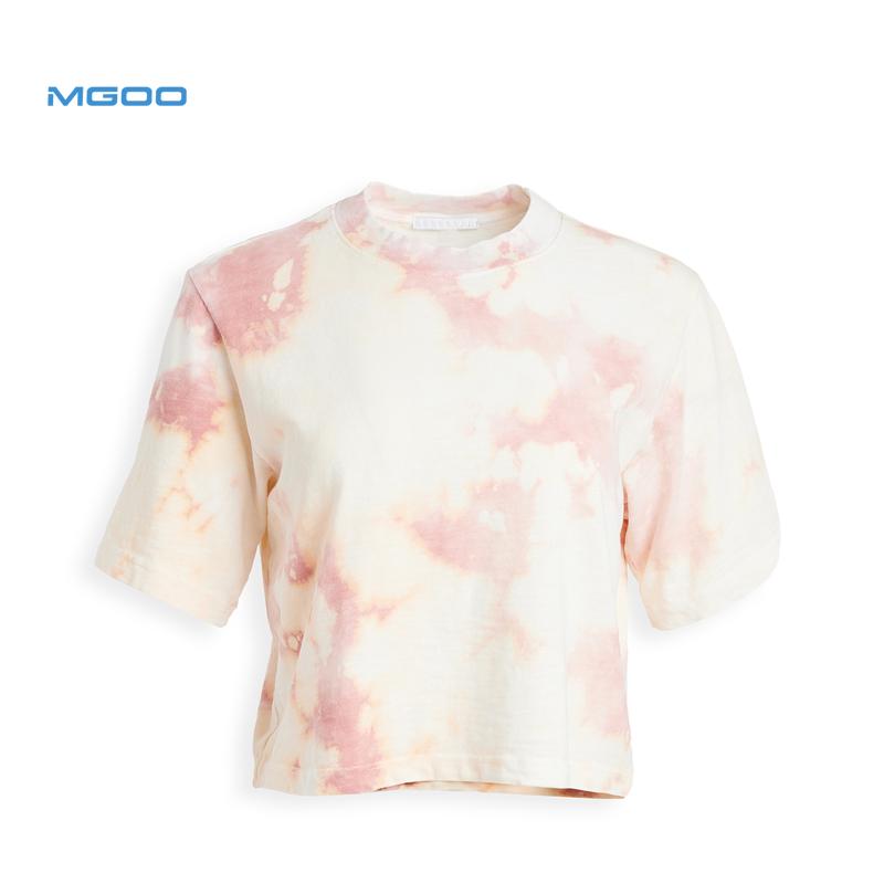 Mid-Gewicht Jersey Tie-Dye Patroon 100% Katoen Tokyo Stijl Slim Fit Crop Tee