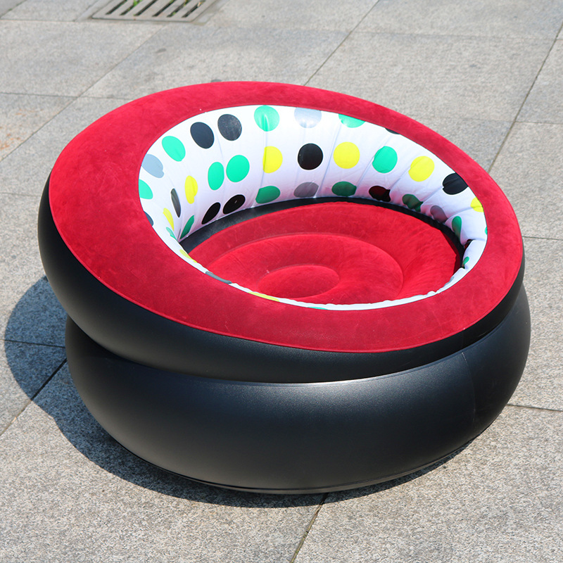 hot sale lazying chair inflatable chair flocked inflatable sofa chair