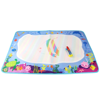 Kids games education floor water drawing doodle mat with 26 letters and pens