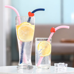 New 2019 Trending Product Custom Logo Silicone Drinking Reusable Eco Cups Folding Straw