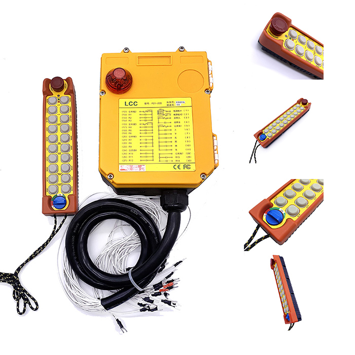 F24-20S 20 Channel Remote Control Nirkabel Transmitter & Receiver Crane Industri Radio Remote Control