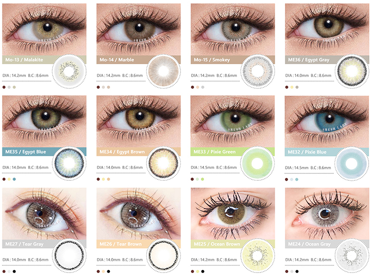 Kangshida Aether Collection Violet glitter colour contact lens