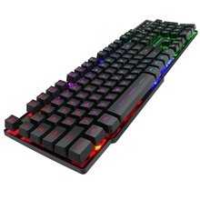 Gaming Meccanica Sensazione <span class=keywords><strong>Tastiera</strong></span> con 104 Tasti RGB Retroilluminato <span class=keywords><strong>Computer</strong></span> Gamer <span class=keywords><strong>Tastiera</strong></span> Per PC