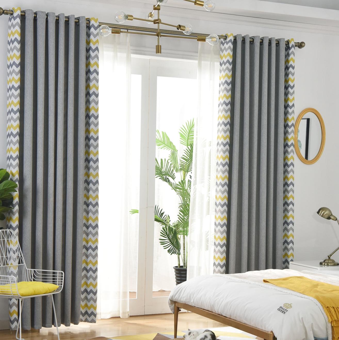 Саржевые затемненные теплоизоляционные тканевые шторы для гостиной и спальни затемненные шторы