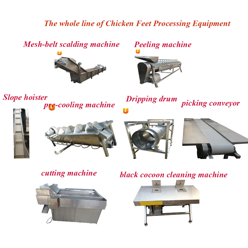 Industrial Chicken Feet Processing Equipment Chicken Feet Machine