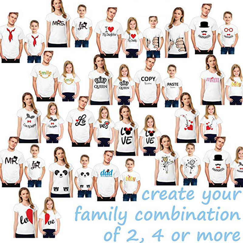 MIDA Marke Sublimation T-shirts Vater Sohn Anzüge Mutter Tochter Kleidung Familie T-shirt Designs