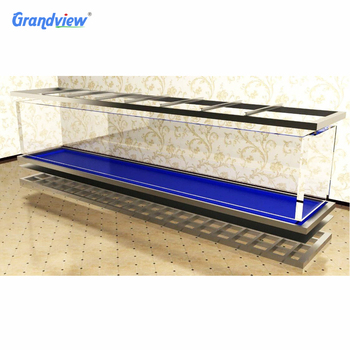 Customized size garden furniture clear anti-uv acrylic fish tank aquarium