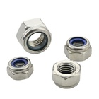 Carbon Steel Hex/ Nylon Insert Lock / Hexagon Flange nut bolt manufacturing