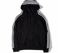 street wear fitness hoodie with tape e on shoulder and sleeve