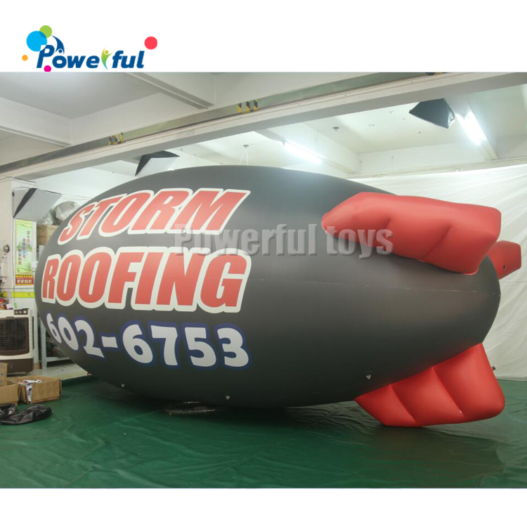 Customized size 0.18mm PVC Advertising inflatable helium blimp balloon