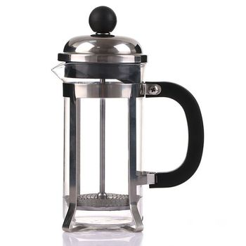 stainless steel coffee French press for coffee tea milk borosilicate glass BPA free coffee press