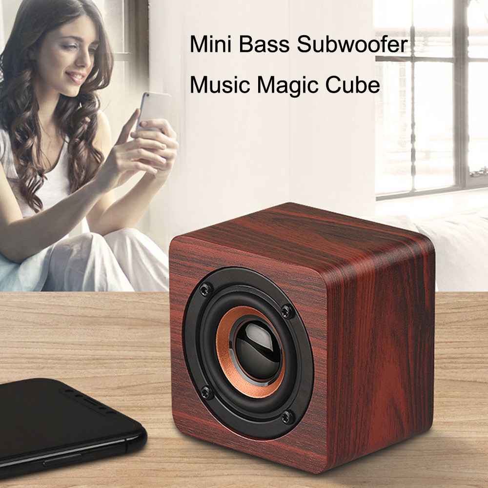 Hiperdeal untuk iPhone 6S Samsung Mini Wireless Bluetooth Speaker Portabel Kayu Speaker Suara Musik Tangan Gratis